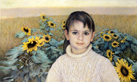 Childhood with Sunflowers